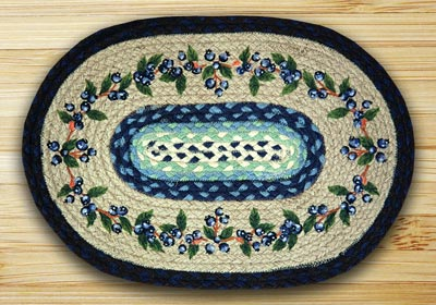 Blueberry Vine Braided Jute Placemat