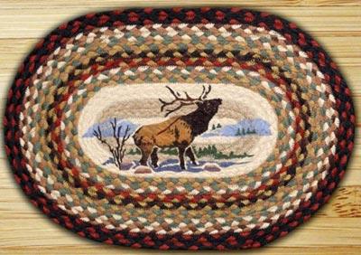 Winter Elk Braided Placemat