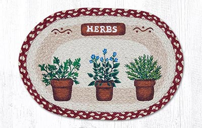 Herbs Braided Placemat - Oval