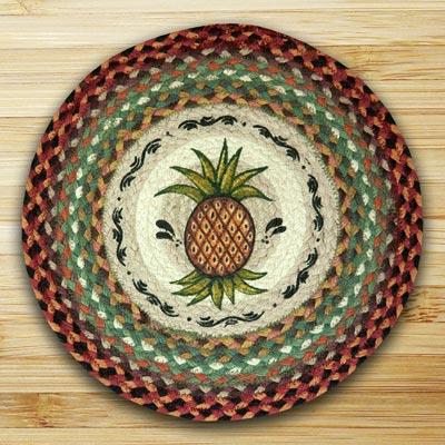 Pineapple Braided Jute Chair Pad