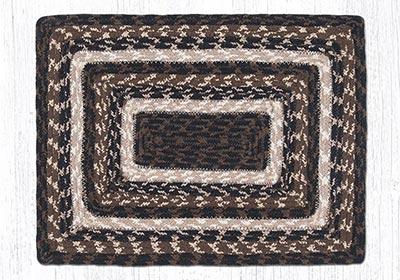 Mocha Frappuccino Cotton Braid Placemat - Rectangle