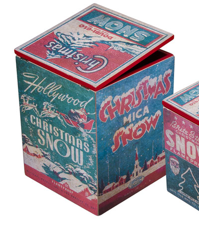 Vintage Christmas Box - Large