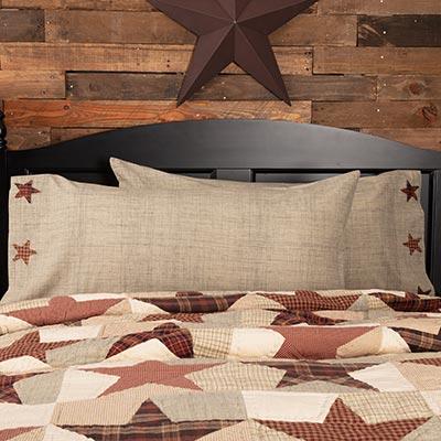 Abilene Star Pillow Cases - King Size (Set of 2)