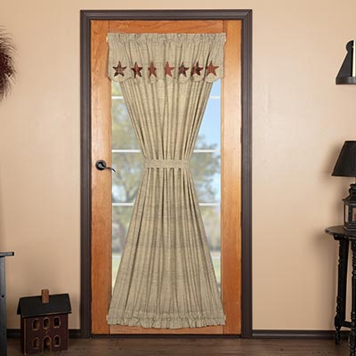 Abilene Star French Door Panel with Valance