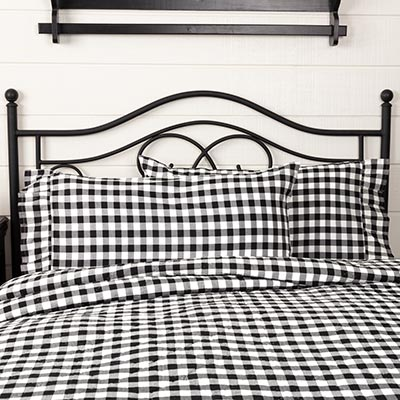 Annie Buffalo Black Check Pillow Cases