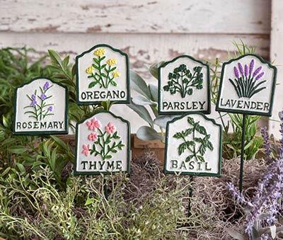 Herb Garden Stakes (Set of 6)