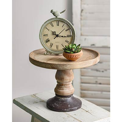 Cast Iron Base & Wood Display Stand