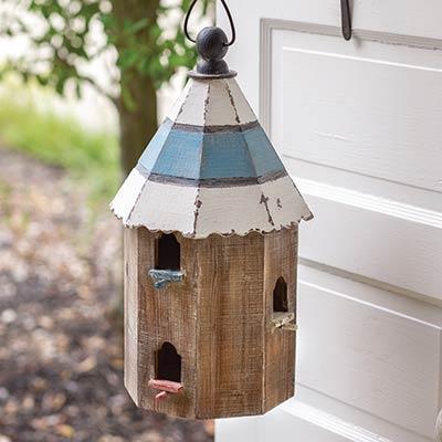 Distressed Wood Finch Birdhouse