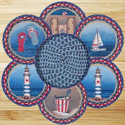American Coast Braided Jute Trivet Set