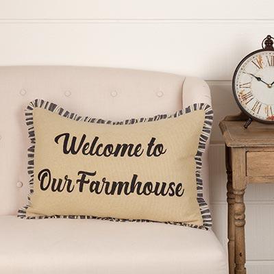 Ashmont Welcome to Our Farmhouse Throw Pillow