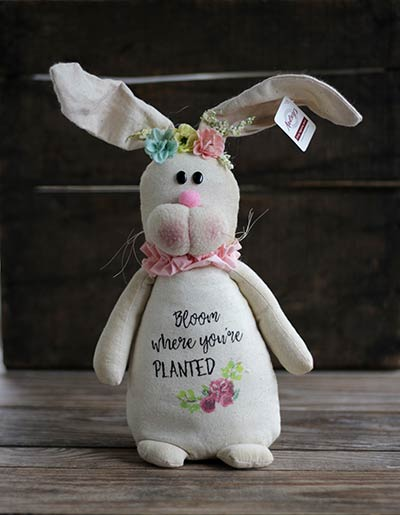 Bloom Where You're Planted Bunny