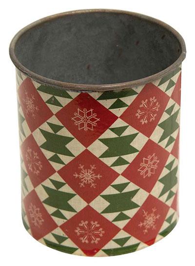 Vintage Christmas Metal Can