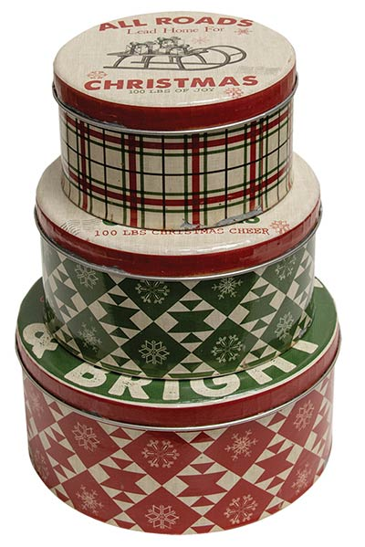 Merry & Bright Nesting Tin Boxes