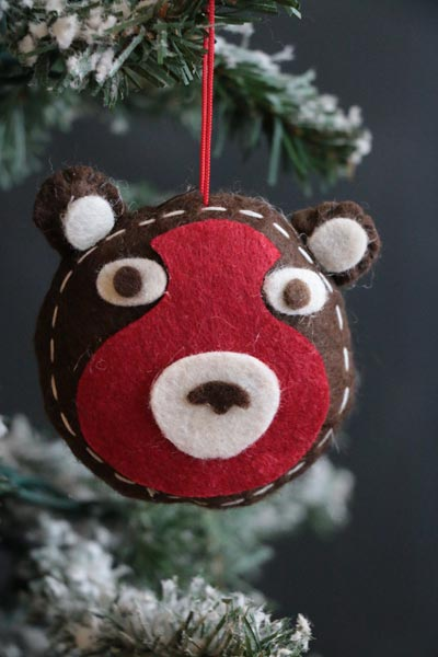 Bear Felt Ornament