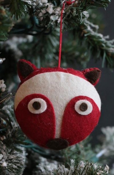 Fox Felt Ornament