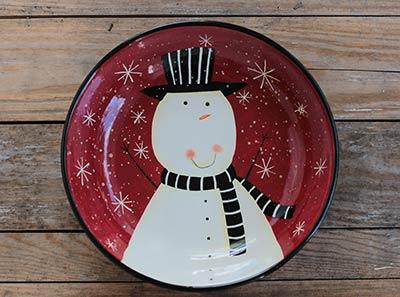 Christmas Snowman Serving Bowl