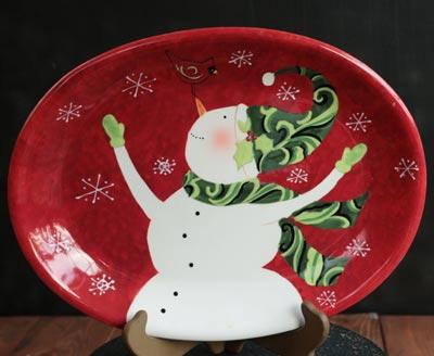 Winter Fun Dinnerware - Snowman Oval Platter