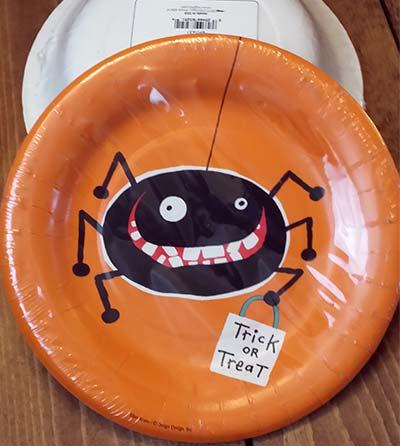 Trick or Treat Spider Paper Salad/Dessert Plates