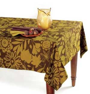 Fall Flora Jacquard Tablecloth