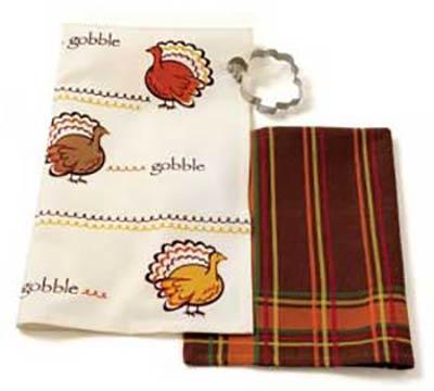 Turkey or Brown Plaid Dishtowel