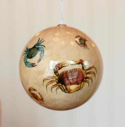 Crab Decoupage Ornament