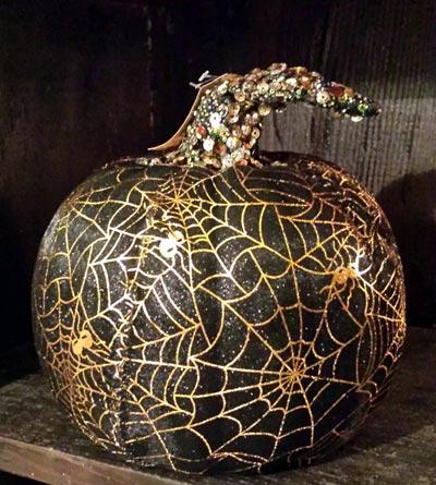 Mesh Pumpkin - Black and Gold