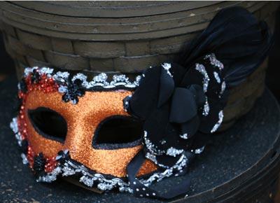 Masquerade Mask - Orange