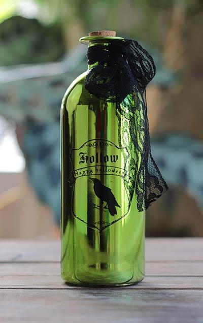 Green Halloween Potion Bottle