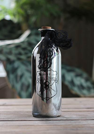 Silver Halloween Potion Bottle