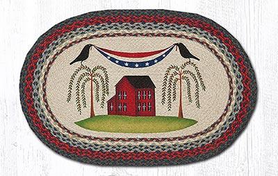 Patriotic Crow Braided Rug