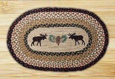 Moose & Pinecone Braided Jute Rug