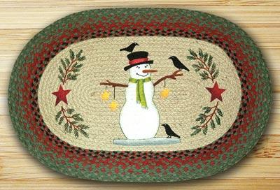 Snowman & Crow Braided Jute Rug
