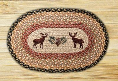 Deer & Pinecone Braided Jute Rug
