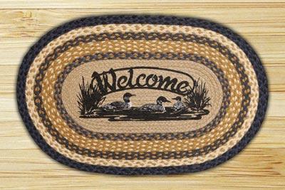 Welcome Loons Braided Jute Rug