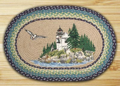 Bass Harbor Oval Patch Braided Rug