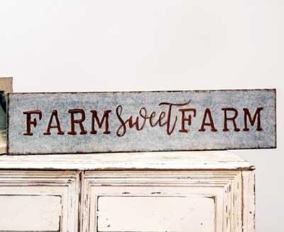 Farm Sweet Farm Tin Sign
