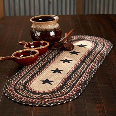 Colonial Star Braided 36 inch Table Runner (Oval)