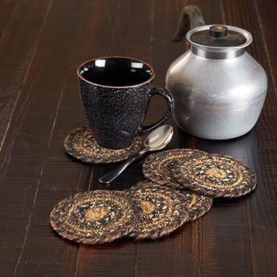 Espresso Braided Coasters (Set of 6)