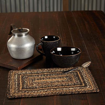 Espresso 10 x 15 inch Braided Placemat (Rectangle)