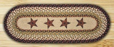 Barn Star Braided Jute Table Runner - 48 inch