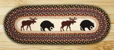 Bear & Moose Braided Table Runner - 36 inch