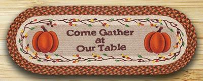 Come Gather Pumpkin Table Runner