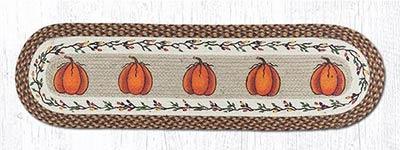 Harvest Pumpkin Braided Table Runner, 48 inch