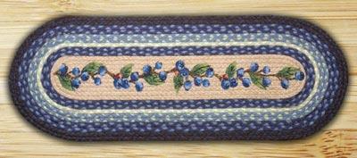 Blueberry Vine Braided Jute Table Runner - 48 inch