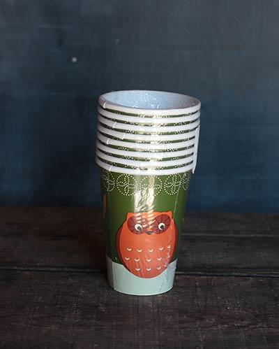 Fall Flora Paper Cups