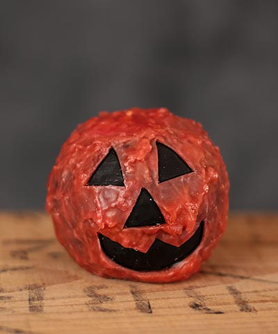 Pumpkin Face Ball Candle with Tealight