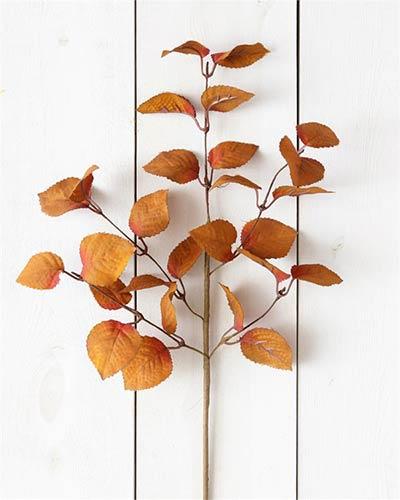 Cinnamon & Burgundy Fall Leaves Pick