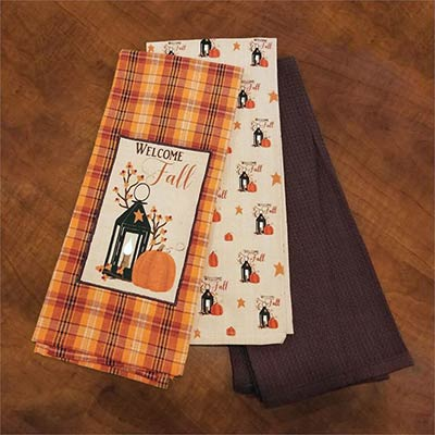Welcome Fall Kitchen Towels (Set of 3)