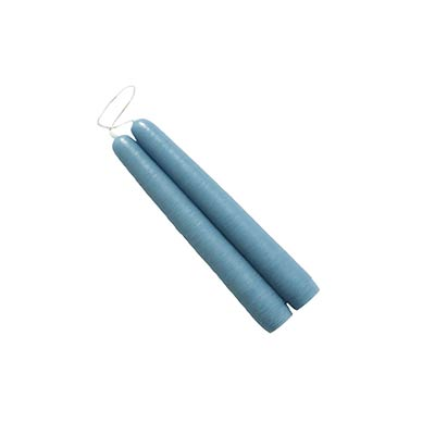 6 inch Dusty Blue Mole Hollow Taper Candles (Set of 2)
