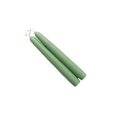 6 inch Misty Green Mole Hollow Taper Candles (Set of 2)